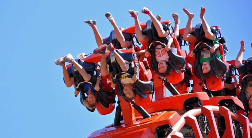 Hung-over and riding roller-coasters at a Californian theme