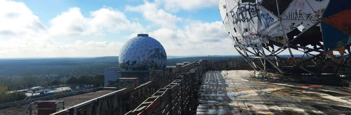 Berlin forest from the former listening station at Teufelsberg