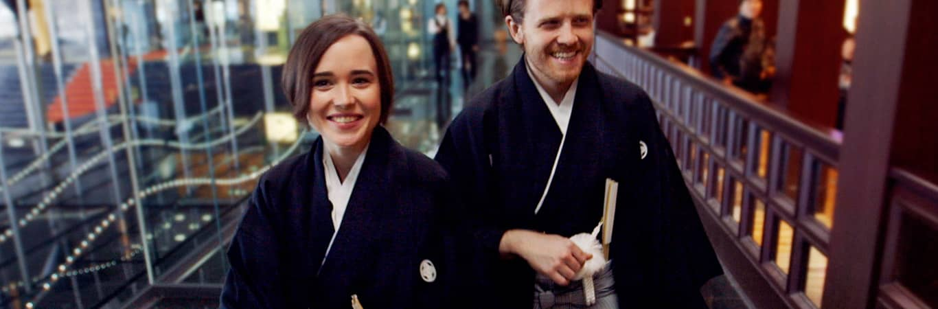 Gaycation Ellen Page and Ian Daniel in Japan
