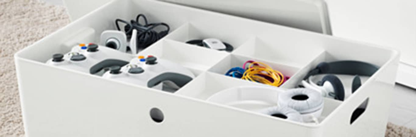 Ikea sex toy storage box idea with compartments