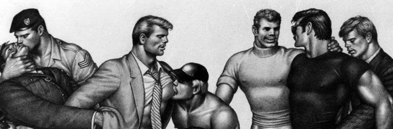 Tom of Finland gay erotica drawing