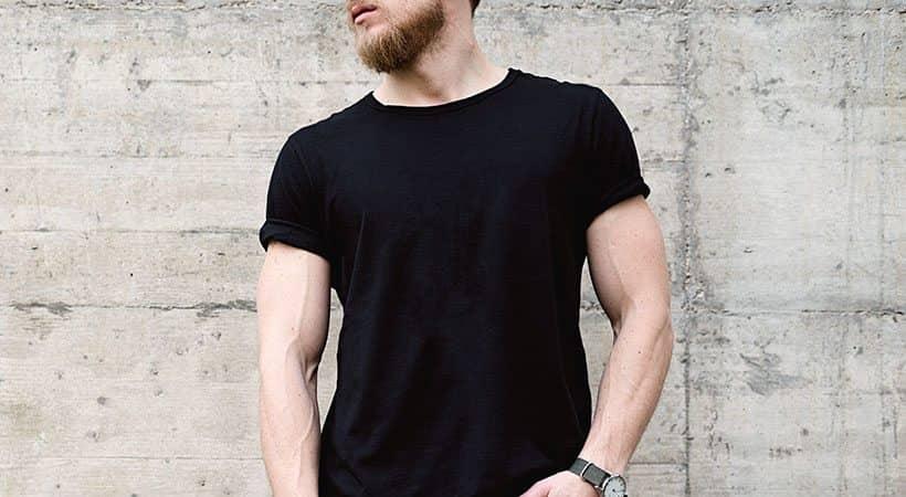 Jet black tshirt