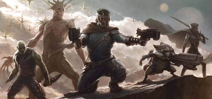 guardians of the galaxy groot starlord rocket art