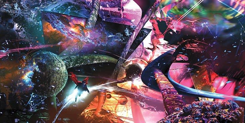 marvel dr strange flying galaxy art