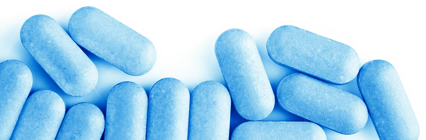 blue pills white background