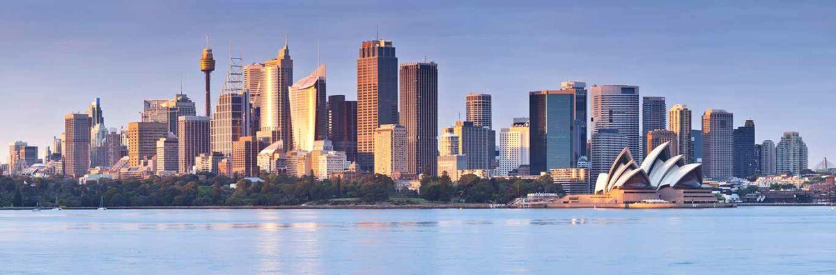 Sydney city view with Sydney opera house