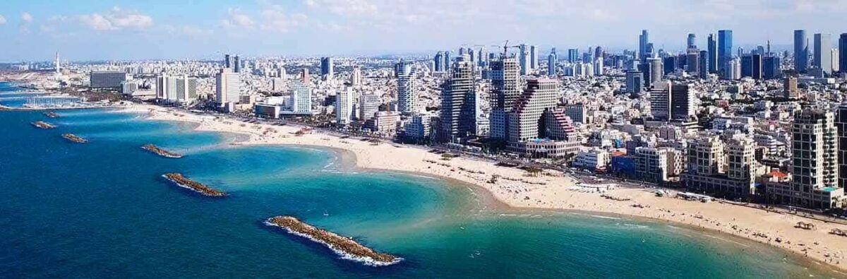 Tel Aviv city scape and beaches