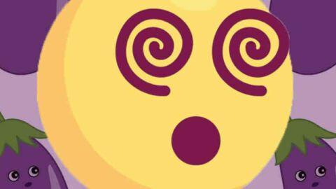frazzled face eggplant emojis