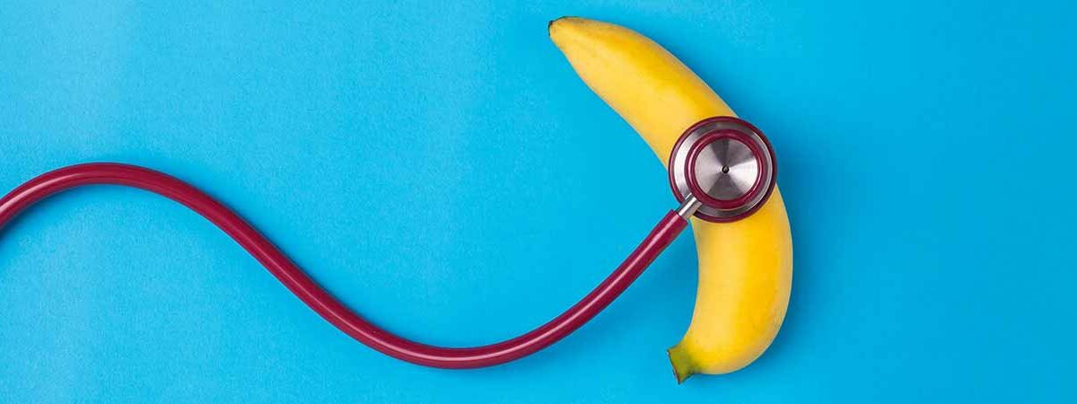stethoscope on a banana